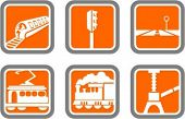stock photo of super-sonic  - A set of 6 vector icons of transportation objects - JPG