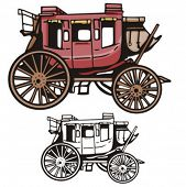 Illustration of a western stage coach.