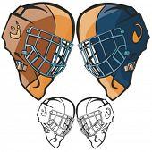 American football helmets. Vector illustration