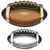 American football ball. Vector illustration
