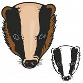 Badger Mascot for sport teams. Great for t-shirt designs, school mascot logo and any other design work. Ready for vinyl cutting.