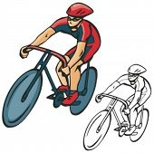 Bicycle rider. Vector illustration