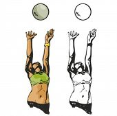 Volleyball player. Vector illustration
