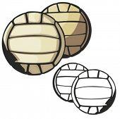 Volleyball vector illustration.
