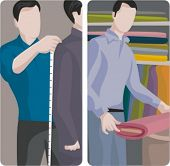 A set of 2 vector illustration of tailors.
