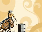 picture of barrel racing  - Western Background Series - JPG