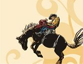 foto of bareback  - Western Rodeo Background Series - JPG