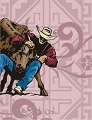foto of brahma-bull  - Western Rodeo Background Series - JPG