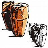 Music Instrument Series. Vector illustrations of a drums.