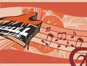 stock photo of rainbow piano  - Musical Background - JPG