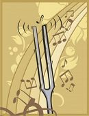 picture of tuning fork  - Musical Background - JPG