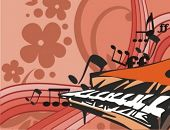 pic of rainbow piano  - Musical Background - JPG
