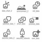 Networking icons set 2. Check my portfolio for many more images from this series.