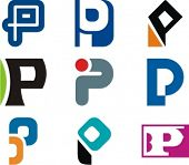 Alphabetical Logo Design Concepts. Letter P. Check my portfolio for more of this series.