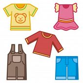 Baby icons series. Baby clothing. Check my portfolio for much more of this series as well as thousan