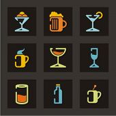 Постер, плакат: Набор иконок ресторан Напитки Проверить мое портфолио для гораздо больше из этой серии а также тысячи o