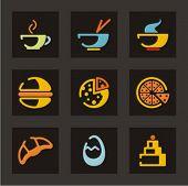 Conjunto de ícones do restaurante. Alimentos. Confira meu portfólio para muito mais desta série, bem como milhares de