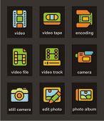 Color de la serie Icon. Conjunto de iconos de los medios de comunicación. Comprobar mi cartera para mucho más de esta serie como thous