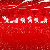 Cristmas Santas Walking