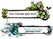 Floral vector frames with place for your text.