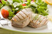 Grilled Tuna Steak With Salad
