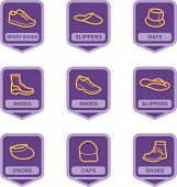 Merchandise Pictogram Series - Shoes and Hats