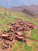 Moroccan Berber Village In The Mountains With Terrace Culture, Setti Fadma Atlas, Ourika Valley, Mor