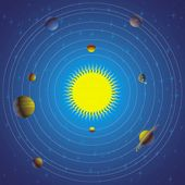 Estilizado sistema solar