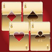 playing cards gold style