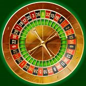 Vector illustration of detailed casino roulette wheel