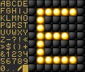 Alfabeto de lámpara de marcador