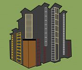 urban building concept vector see series