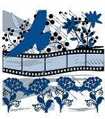 film and nature grunge vector
