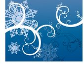snowflakes and vines room for your input vector