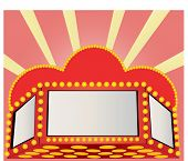 marquee in reds and pink vector