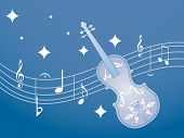 picture of nouns  - musical notes with guitar - JPG