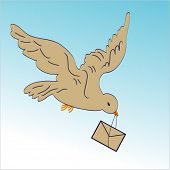 bird carrying envelope