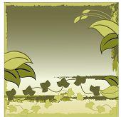 green jungle like background