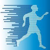man running graphic