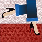 legs hurrying - seamless patterns