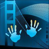 hands with bridge