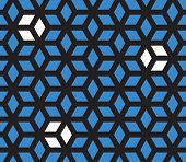 Optical illusion pattern (black one piece blue/white all separate)