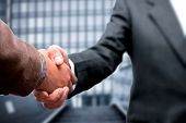 pic of business success  - Handshake business concept - JPG