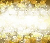 pic of gold glitter  - gold glitter on a dark yellow background - JPG