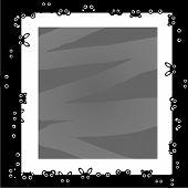 Black and white animal frame