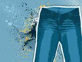 Jeans Background.vector Gunge Denim