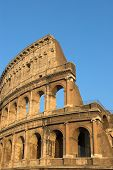 Famous Colosseum Or Coliseum In Rome