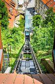 Постер, плакат: Funicular Railway Of Ljubljana In Ljubljana Castle Capital Of Slovenia