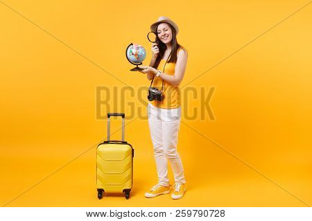 Tourist Woman In Summer Hat