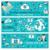 Internet Payment Transaction, Secure Online Buy And Pay Technology. Vector Personal Web Cloud Data A poster